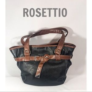 ROSETTIO Brown & Black Slouchy Shoulder Bag🍩